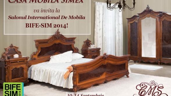 Casa Mobila Simex va astepta la BIFE-SIM cu reduceri mari la mobilierul de lux din lemn masiv