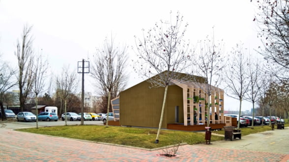 Casa pasiva Over4, care va reprezenta Romania la Olimpiada caselor solare, expusa in Bucuresti (Galerie foto)