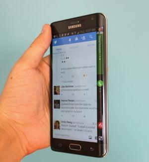 Ce poate face noul Samsung Galaxy Edge si iPhone 6 nu