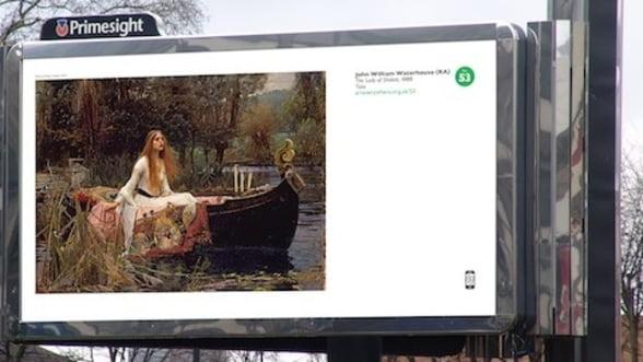 Cea mai mare expozitie din lume: Opere de arta reproduse pe panouri publicitare