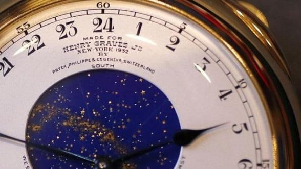 """Ceasul """"Graves"""" creat de Patek Philippe, vandut cu pretul record de 24 milioane de dolari"""
