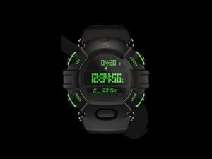 Ceasul inteligent cu doua ecrane care are o baterie ce dureaza un an