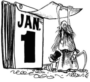 Cei mai multi americani mor pe 1 ianuarie - prima zi din an este una fatidica