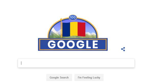 Centenarul Marii Uniri, marcat de Google Romania printr-un Doodle special