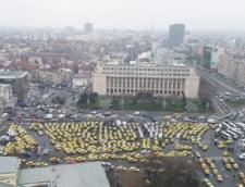 Centrul Capitalei, blocat de mitingul taximetristilor impotriva Uber. Unde nu se circula