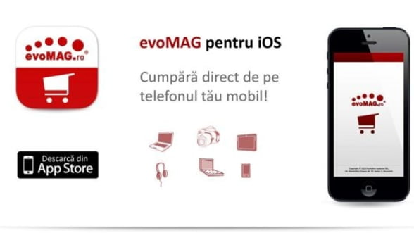 Clientii evoMAG pot face cumparaturi si de pe iPhone