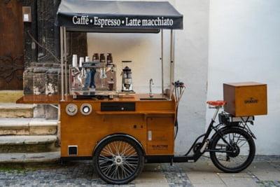 Conceptul street coffee - Afaceri de succes