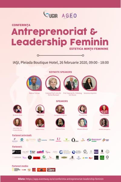 "Conferinta Antreprenoriat & Leadership Feminin - ""Estetica mintii feminine"" debuteaza cu prima editie la Iasi"