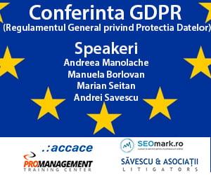 Conferinta GDPR, 15 martie 2018