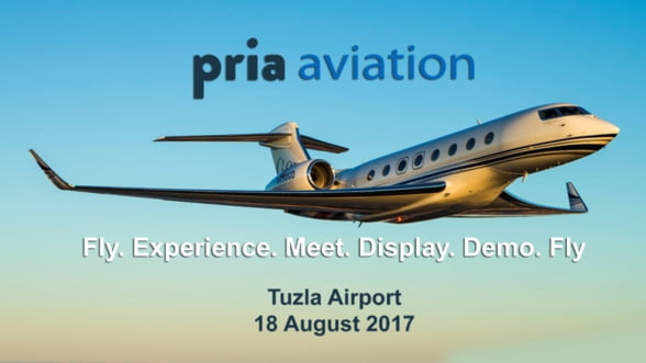 Conferinta PRIA Aviation va avea loc in data de 18 august 2017 la Aeroportul Tuzla