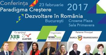 """Conferinta Paradigma """"Crestere - Dezvoltare"""" in Romania are loc pe 23 februarie la Crowne Plaza"""