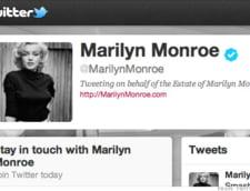 Conturile celebritatilor pe retele sociale: Tweet Marilyn Monroe