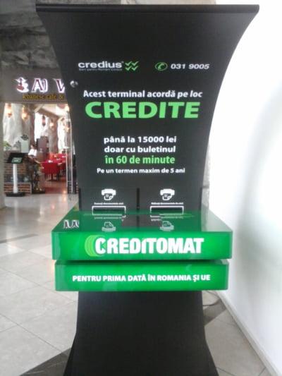 Creditomatul de la Credius: premiera in Uniunea Europeana