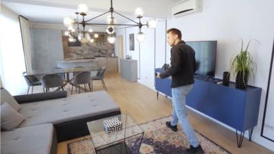 Cum arată un apartament de 350.000 de euro din Cluj. Chiria pentru o astfel de locuință este 1.500 de euro lunar VIDEO