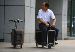 Cum calatoresti repede cu bagajul, in oras: Inventia uimitoare a unui chinez