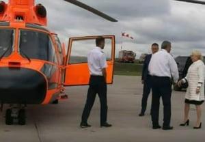 Cum fenteaza Dancila lipsa autostrazilor: S-a dus in turneu electoral in Moldova cu un elicopter privat UPDATE
