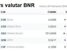 Curs valutar 20 februarie: Euro si dolarul revin in forta