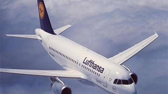 Cursele aeriene Frankfurt-Bucuresti, anulate din cauza grevei de la Lufthansa