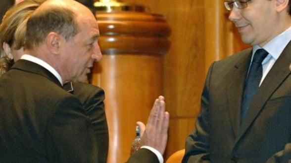 Cursul valuar, alt motiv de disputa intre Ponta si Basescu
