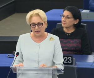 Dancila, contrata dur in Parlamentul European la prezentarea bilantului: Guvernul dvs nu se ridica la inaltimea UE!