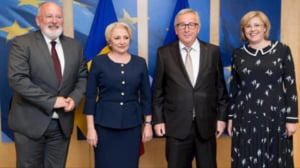 Dancila le-a explicat lui Juncker si Timmermans, la Bruxelles, ce se intampla cu justitia din Romania