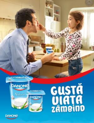 """Danone lanseaza o noua campanie: """"Gusta viata zambind"""""""