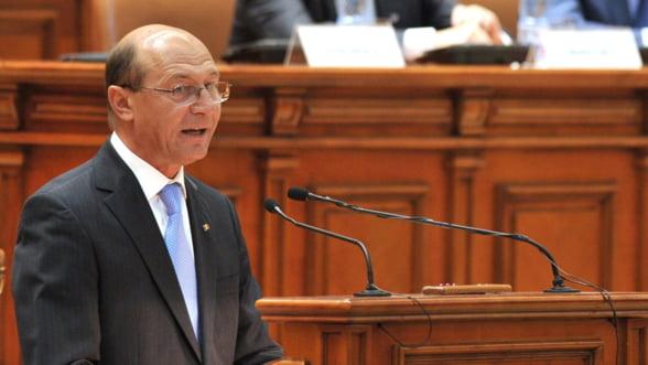 Declaratiile Presedintelui: Lectia de economie adresata Parlamentului