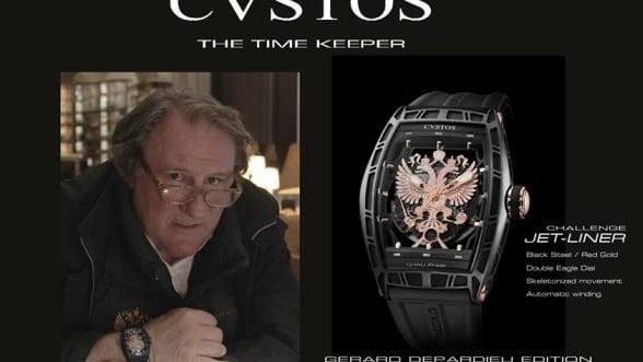 """Depardieu promoveaza o linie de ceasuri de lux. Sloganul: """"Mandru ca sunt rus"""""""