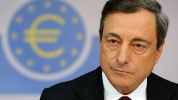 Draghi reitereaza angajamentul BCE pentru cresterea inflatiei in zona euro