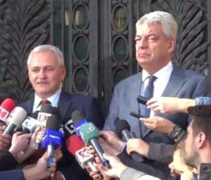 Dragnea si Tudose, dupa sedinta PSD: A fost o discutie buna, deciziile se iau in Comitetul Executiv National