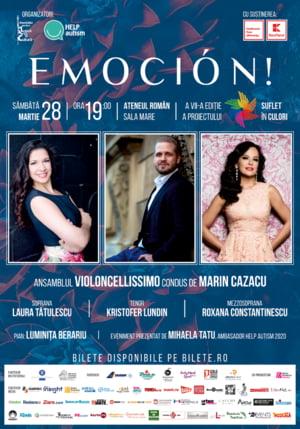 EMOCION!, concert caritabil extraordinar, pe scena Ateneului Roman