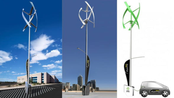 Ecologie la extrem: Iti incarci masina direct de la turbina eoliana