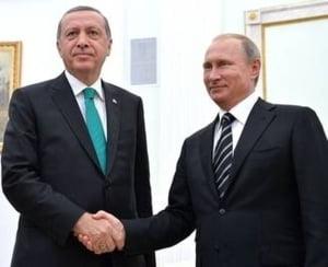 """Erdogan merge intr-o vizita """"istorica"""" in Rusia: La discutiile cu prietenul meu Vladimir va fi deschisa o noua pagina"""