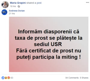 Europarlamentarul Maria Grapini jigneste romanii care vin la protest: Fara certificat de prost nu puteti participa la miting