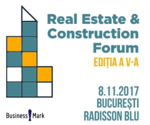 Evenimentul Real Estate & Construction Forum reuneste cei mai mari jucatori de pe piata de imobiliare si constructii