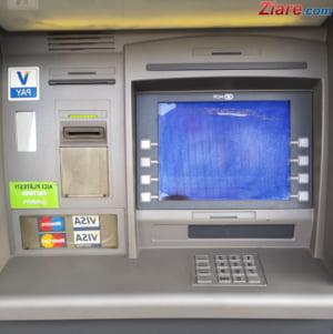 Explozie la sucursala unei banci, in Brasov. Bancomatul a fost aruncat in aer