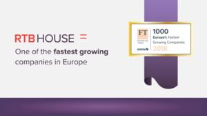 FT a realizat topul companiilor cu cea mai rapida crestere din Europa: RTB House ocupa locul 8 pe segmentul tech