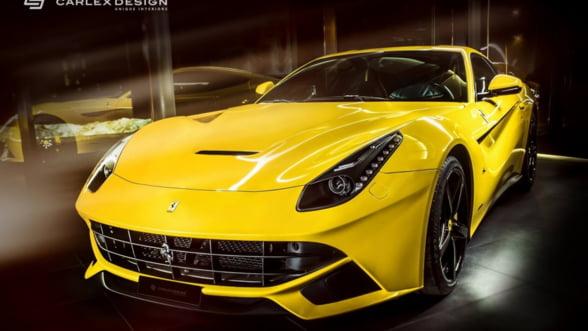 Ferrari la puterea a doua. Asa arata un model F12 berlinetta tunat de Carlex