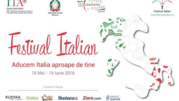 """Festivalul Italian la Bucuresti, editia 2018, 16 mai-15 iunie 2018: """"Aducem Italia aproape de tine"""""""