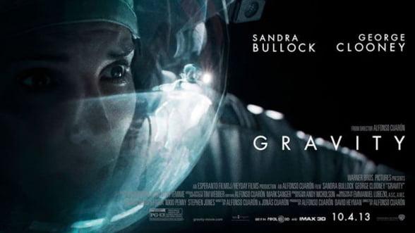 """Filmul """"Gravity"""" ramane liderul box office-ului nord-american pentru cel de-al treilea weekend consecutiv"""