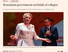 Financial Times: Guvernul Romaniei, in pragul colapsului