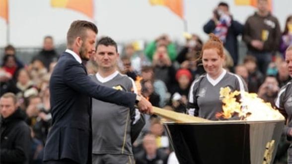 Flacara olimpica a sosit in Marea Britanie