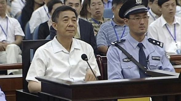 Fostul lider chinez Bo Xilai, condamnat definitiv la inchisoare pe viata