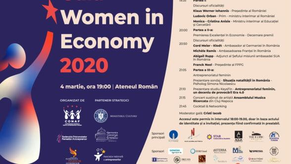 Gala Women in Economy 2020 premiaza excelenta in business