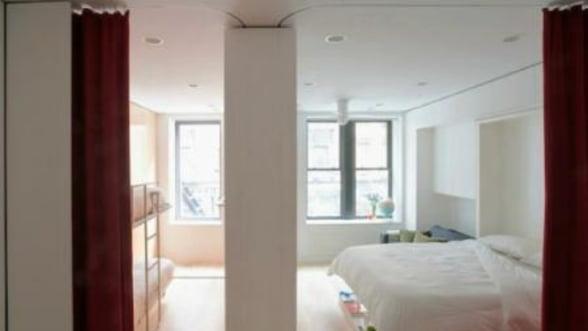 Garsoniera cu functionalitate de opt camere, proiectata de doi romani, pusa in vanzare la New York