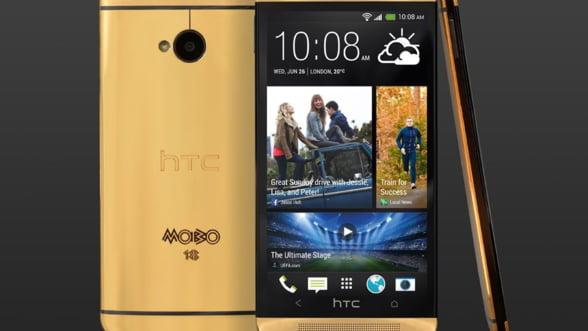 Gold HTC ONE. Daca iPhone nu te-a convins, ce spui de acest telefon din aur?