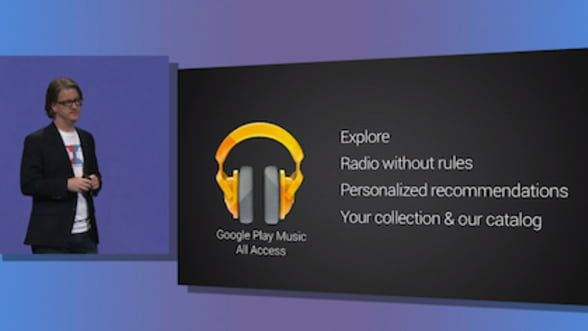 Google Play Music All Access, o noua aplicatie pe piata de streaming de muzica
