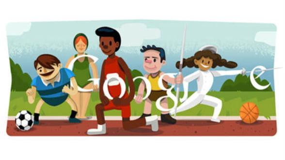 Google a creat un logo special pentru a marca Jocurile Olimpice