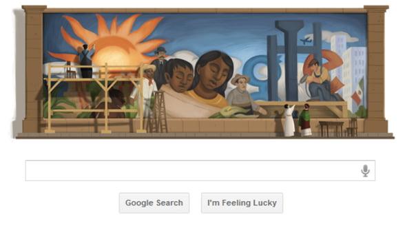 Google aduce un omagiu pictorului Diego Rivera