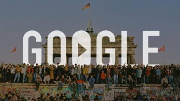 Google comemoreaza 25 de ani de la caderea Zidului Berlinului - Video